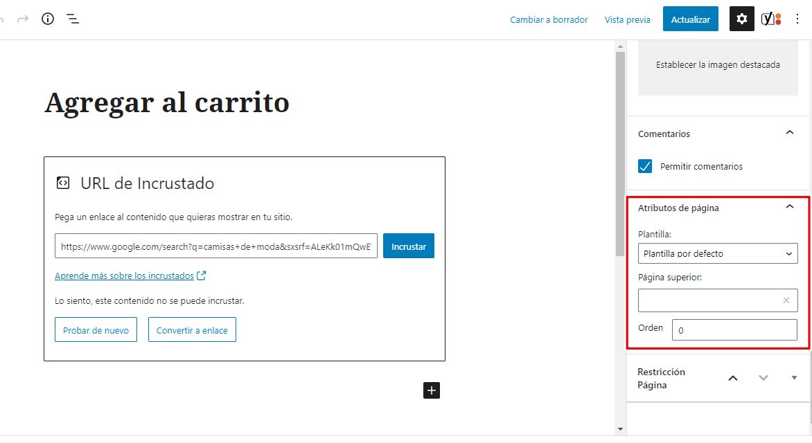 post content template wordpress